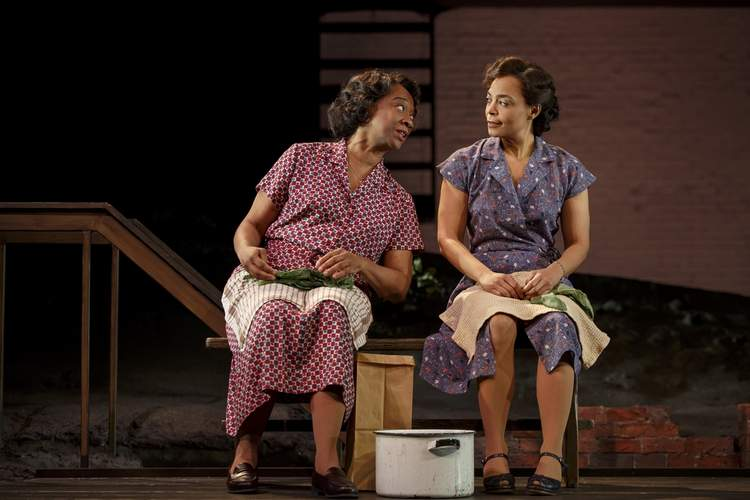 Stephanie Berry and Rachel Leslie in Seven Guitars  (Photo by Joan Marcus)