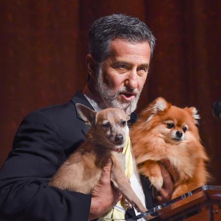 Bill Berloni and friends at the Connecticut Critics Circle Awards in 2016 (Photo by Mara Lavitt)