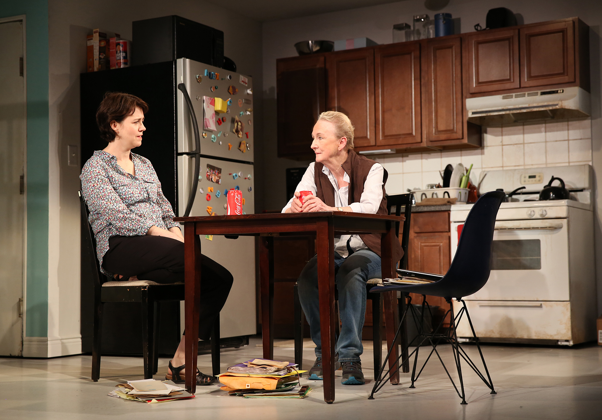 "Emily Donahoe and Kathleen Chalfant in the Yale Rep production of ""Mary Jane"" Photo by Joan Marcus."