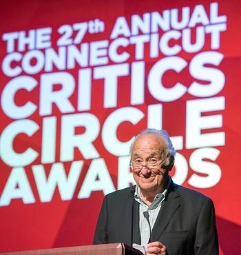 Jerry Adler as a presenter at June's Connecticut Critics Circle Awards (Photo by Mara Lavett)