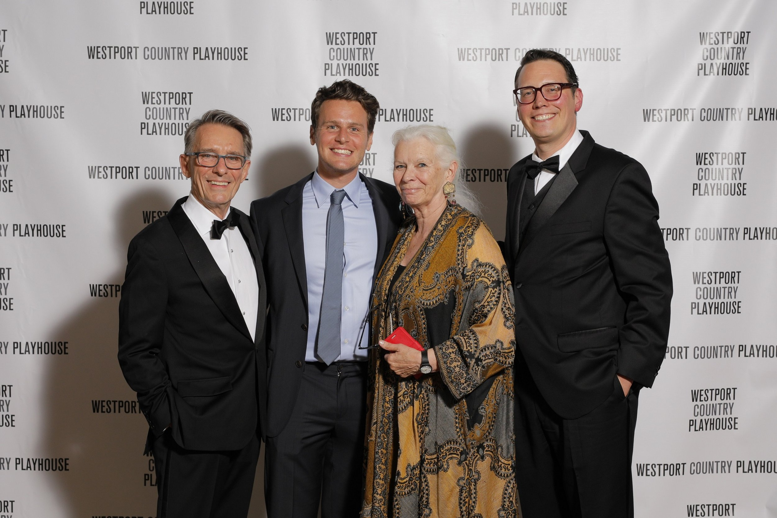 From left, Mark Lamos, Westport Country Playhouse artistic director; Jonathan Groff; Anne Keefe, Playhouse associate artist; and Michael Barker, Playhouse managing director.