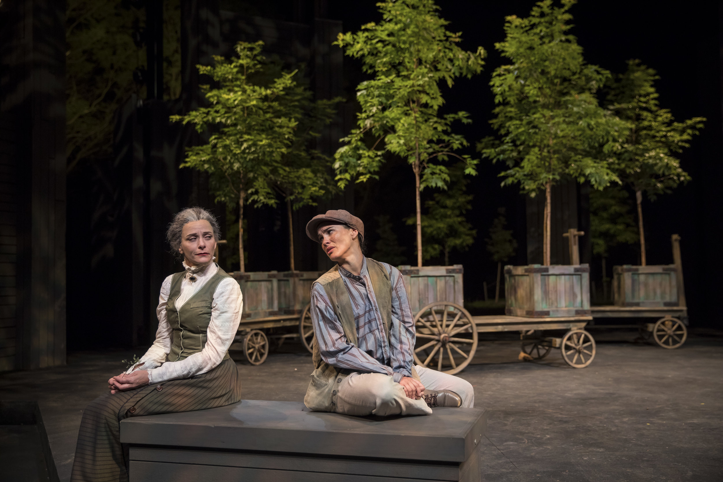 """""""As You Like It"""" with Tracy Michelle Arnold & Melisa Pereyra.All photos by Liz Lauren"""