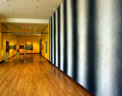 This Sol Lewitt mural resides at the New Britain Museum of American Art. (John Long / Hartford Courant)