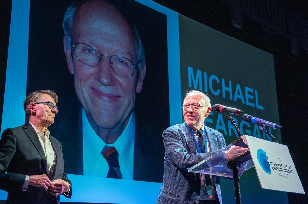 Marl :Lamos presented the Tom Killen Award to set designer Michael Yeargan. (Photos By Mara Lavett)