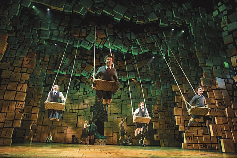 """""""Matilda"""" began its tour at the Shubert Theatre in New Haven and stayed in town for seven weeks.,"""