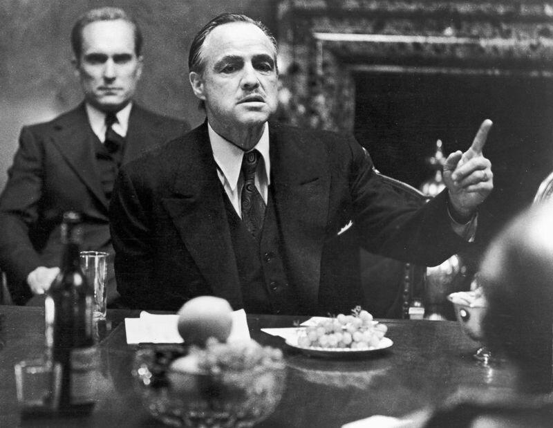 "Brando in ""The Godfather"""