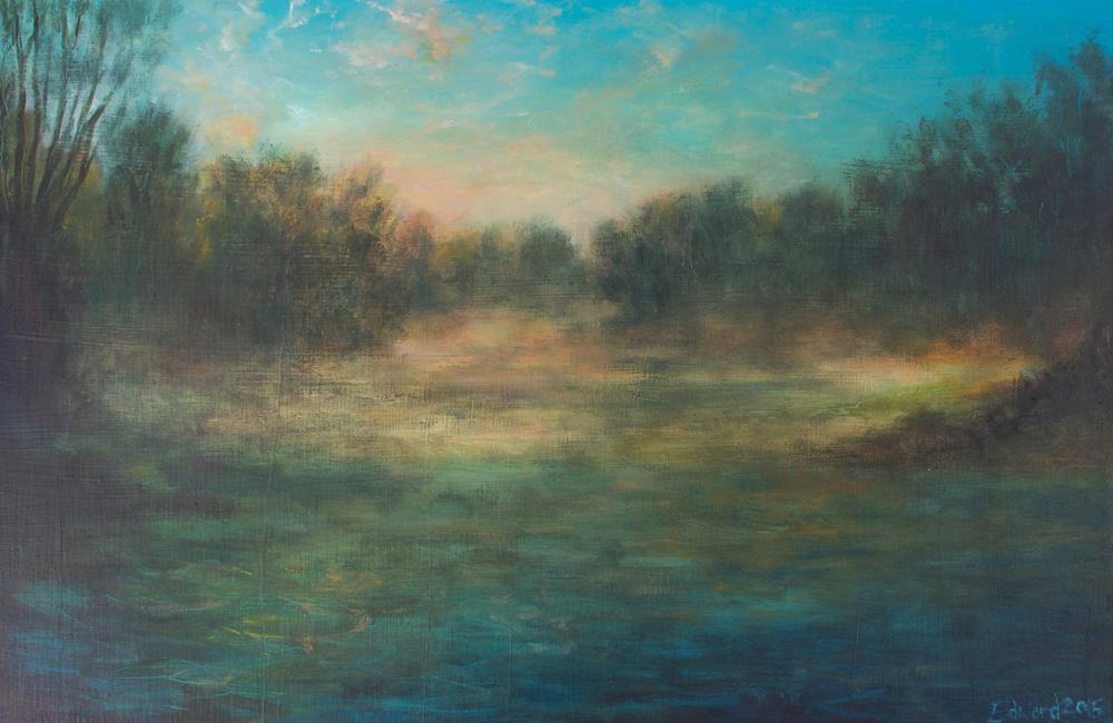 River of Mist - Oil on Board 2015