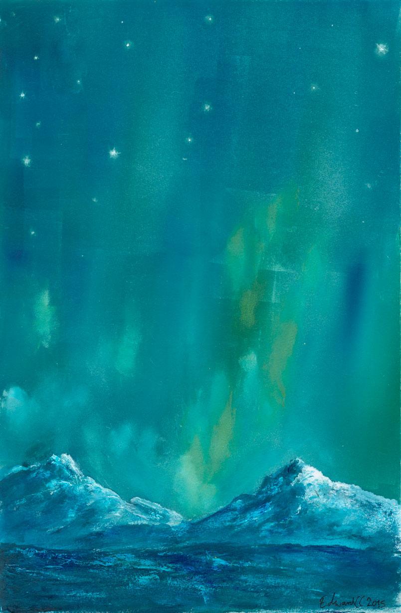 Aurora - Monoprint 2016