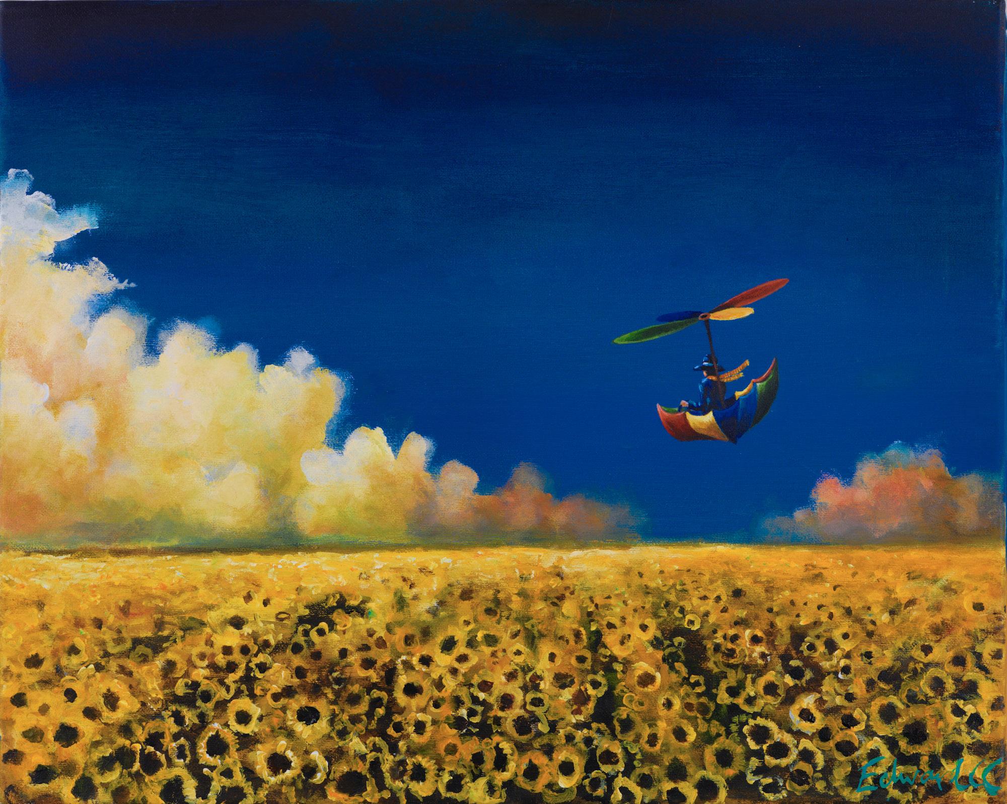 Sea of Sunflowers - Acrylic on Canvas 2011