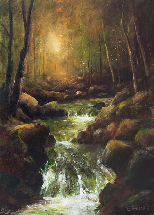 The Fairy Glen - Acrylic on Canvas 2008
