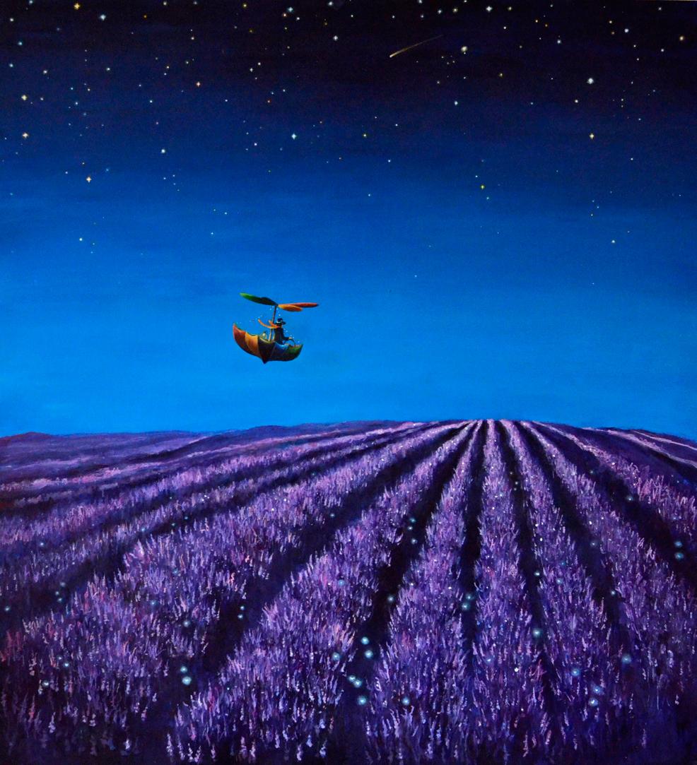 Lavender Fields - Acrylic on Board 2012