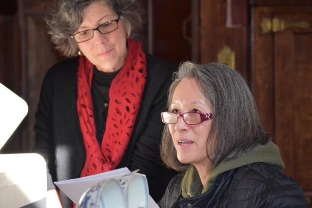Diane KW and Patty Rosenblatt working in the Manship kitchen.