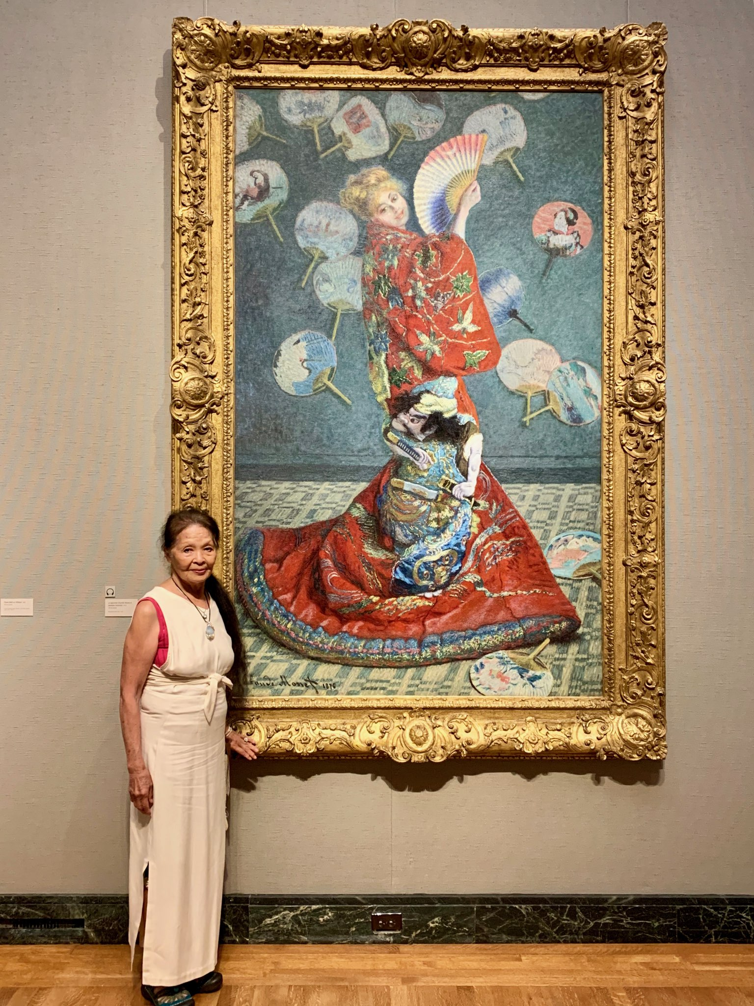 An inspirational trip to the MFA.   Minori Ishikawa  will perform at the Prometheus Gathering as Monet's  La Japonaise .  Photo credit:     Rosali Silva   .