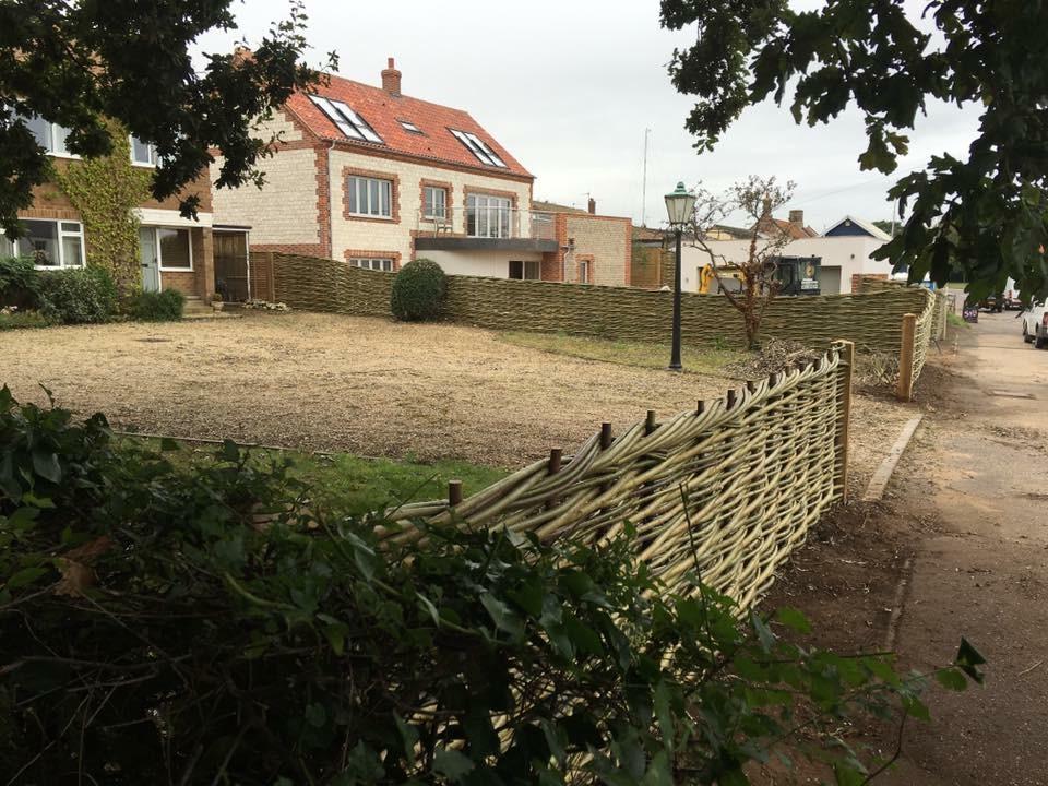 Natural garden fence