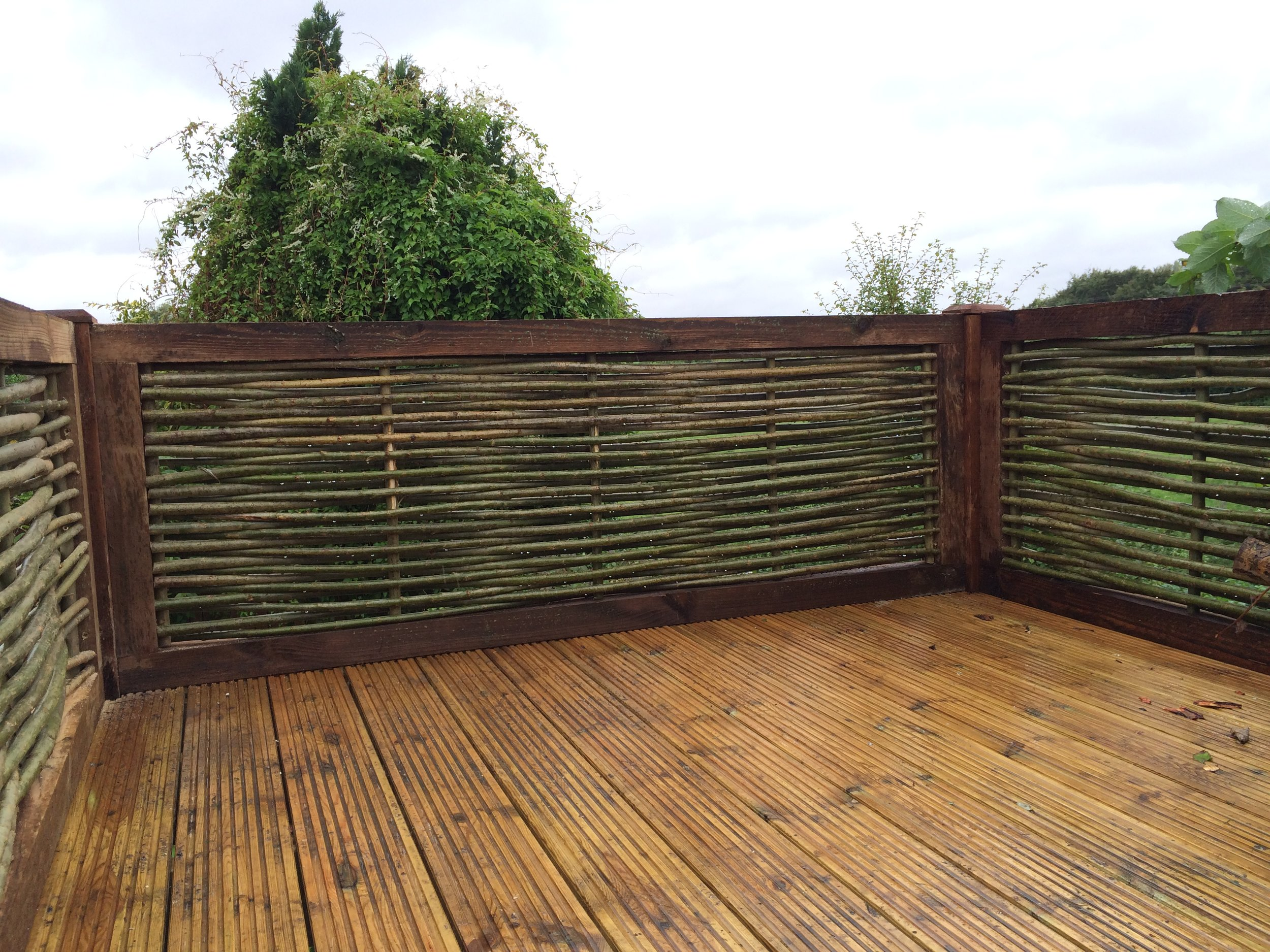 Elegant woven willow panels