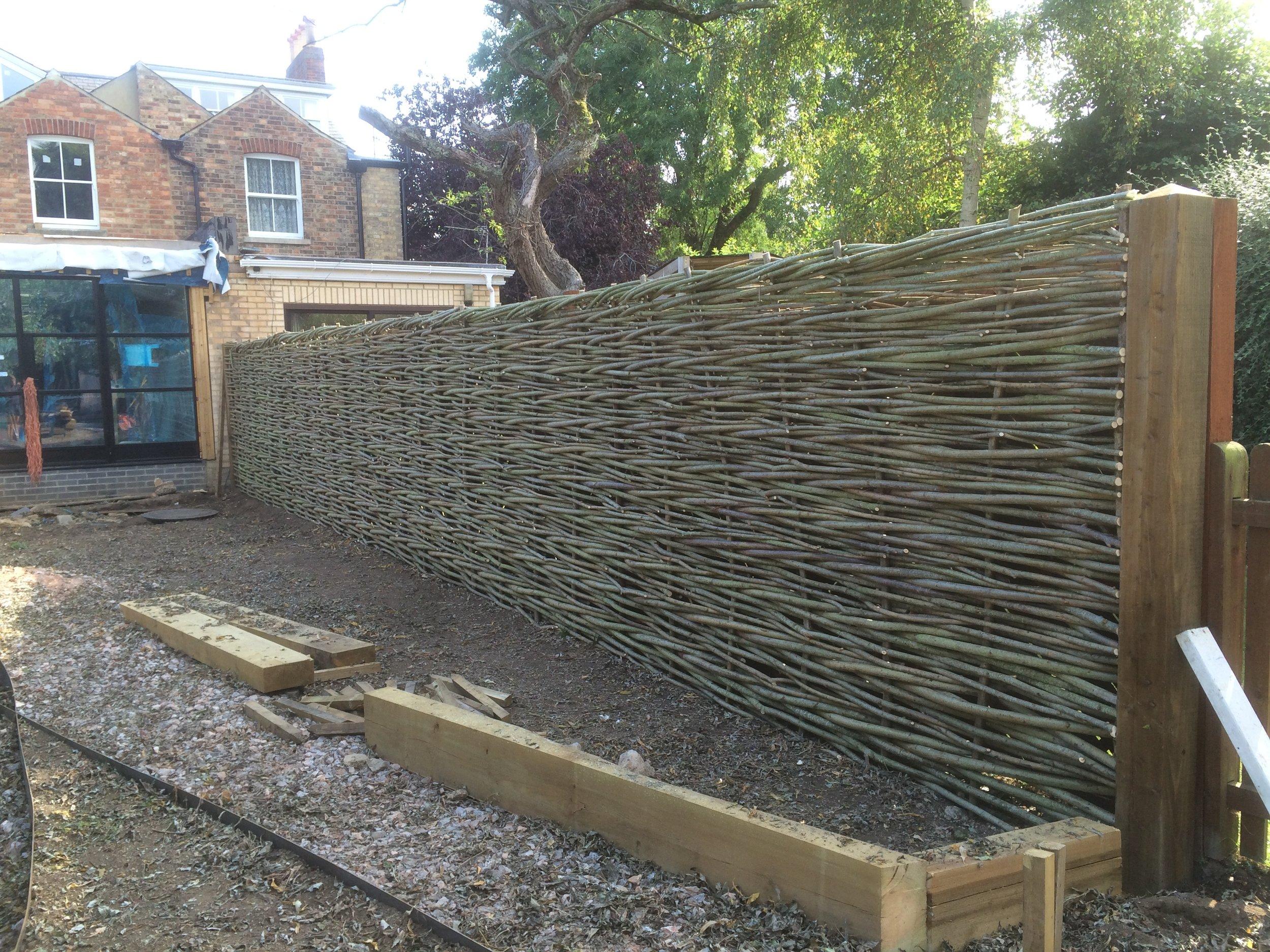 Willow fencing adding drama