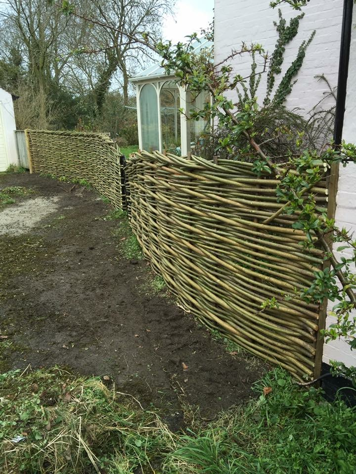 Beautiful woven willow fence