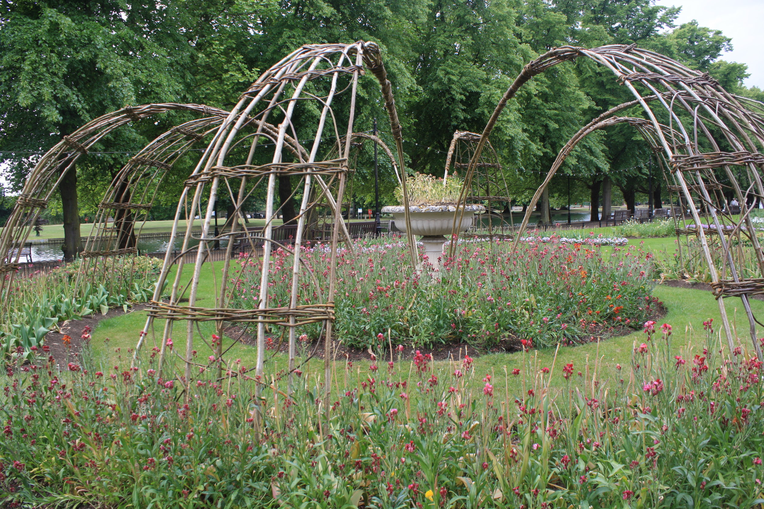 Woven willow sculpture