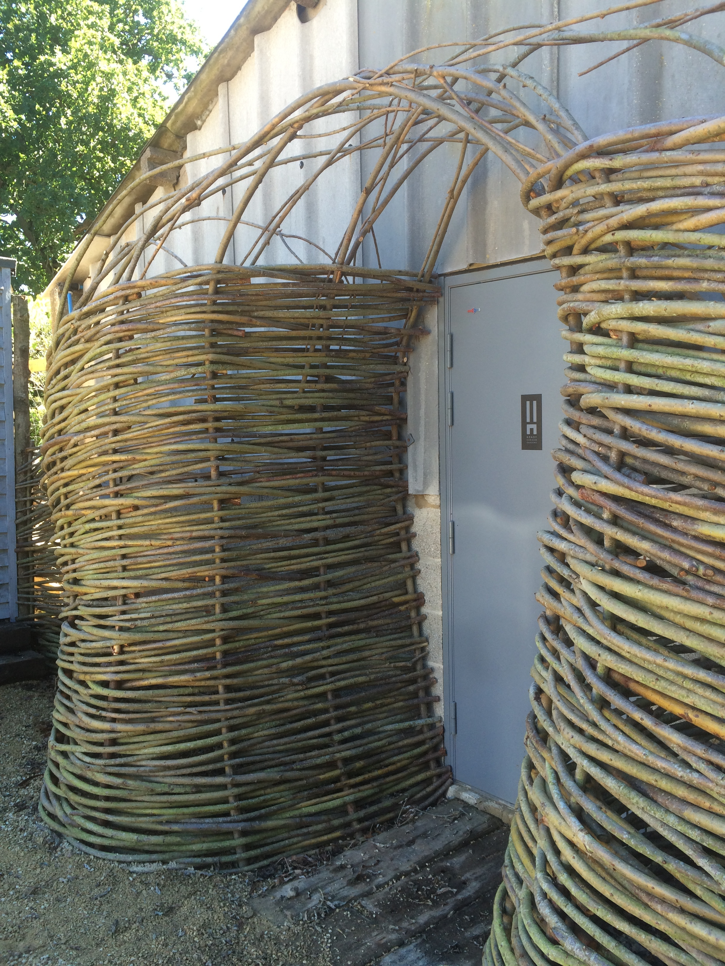 Statement woven willow entranceway