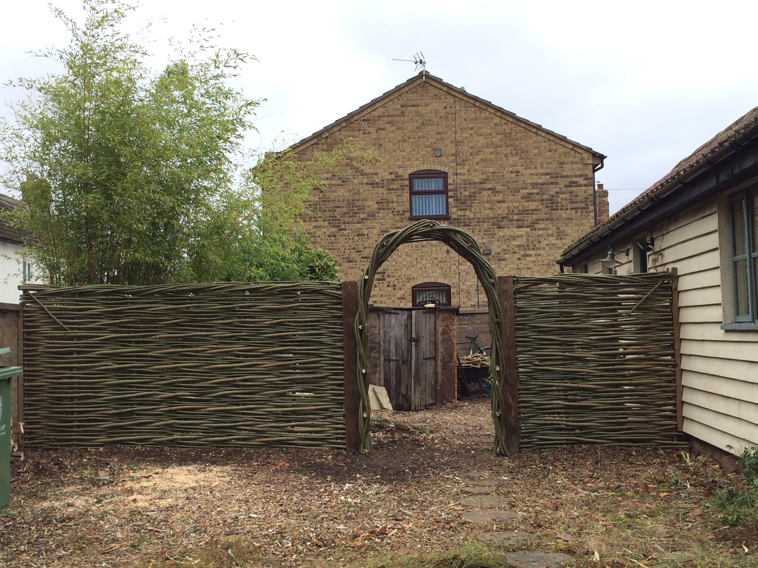 Woven willow archway