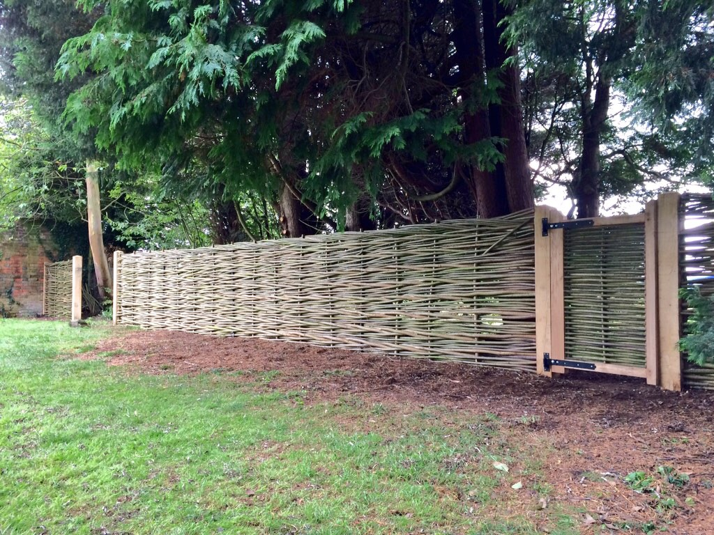 Woven willow fence and gate