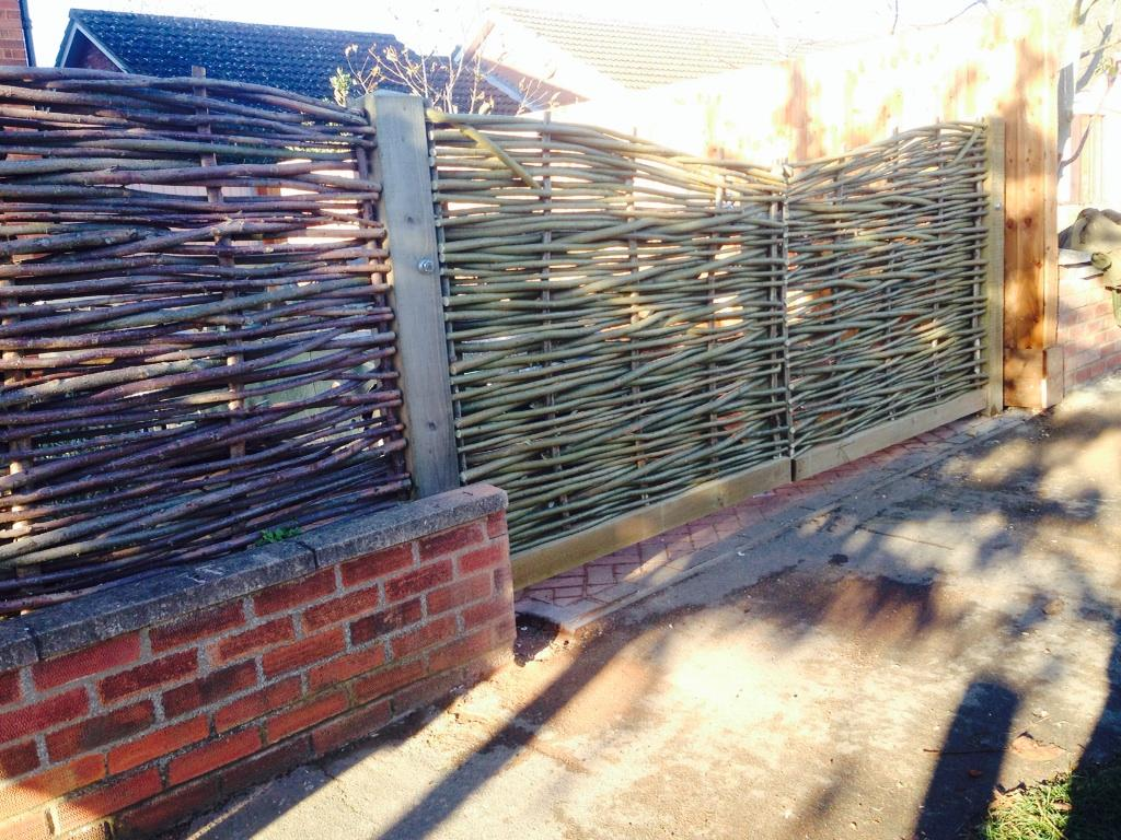 Bespoke woven willow gate