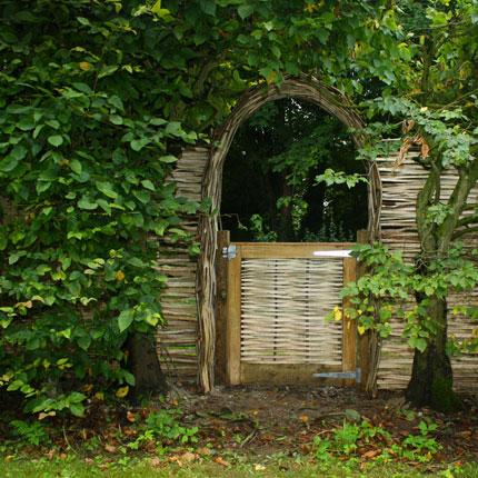 Hazel archway and gate