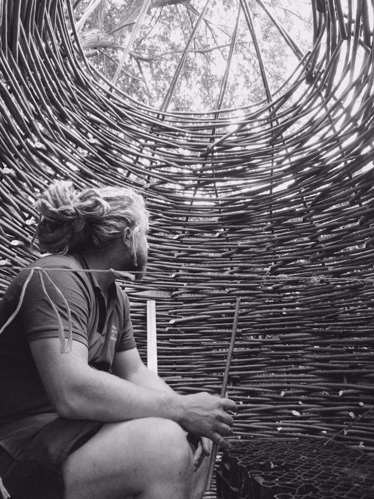 Woven willow children's den