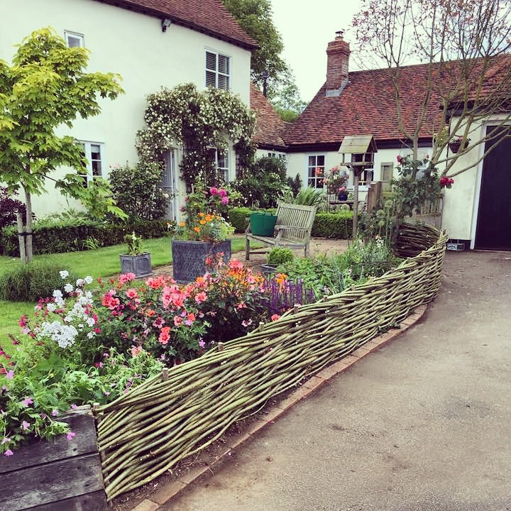 Cottage garden willow fence