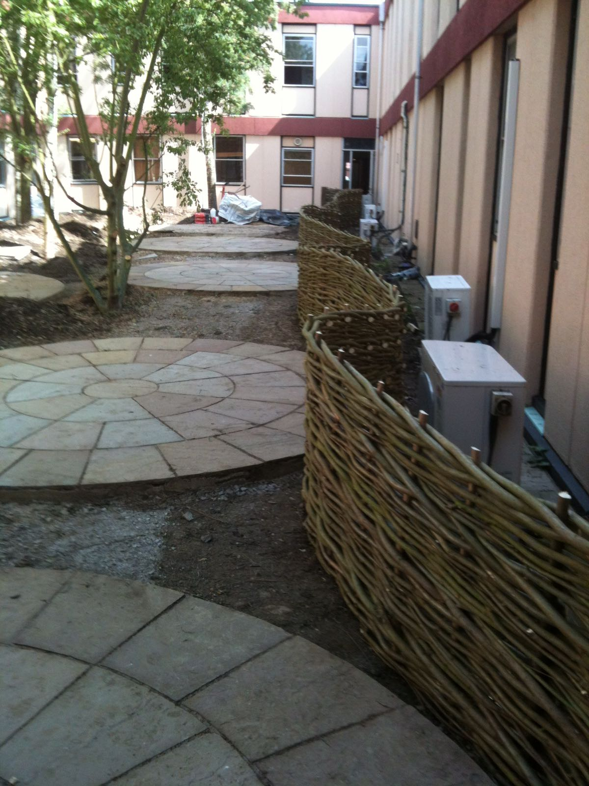 Bespoke Woven Willow Fence