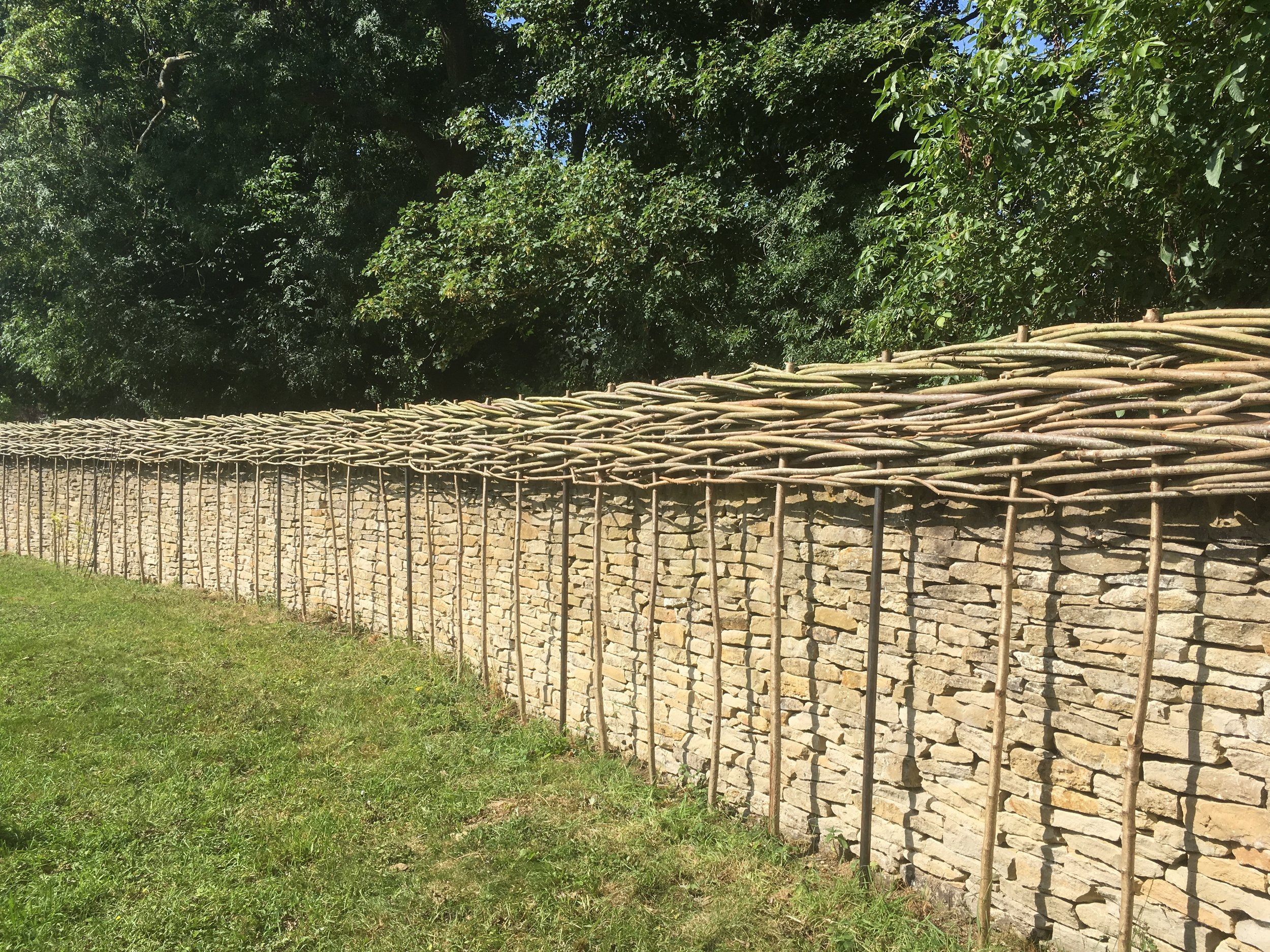 Privacy extension willow fence
