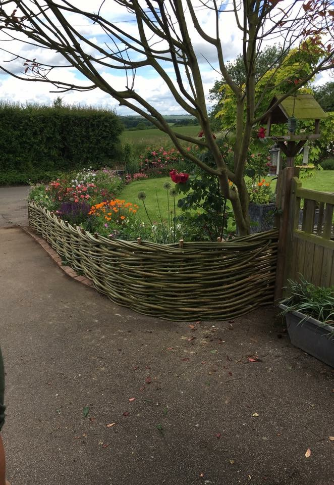 Flower boarder with willow