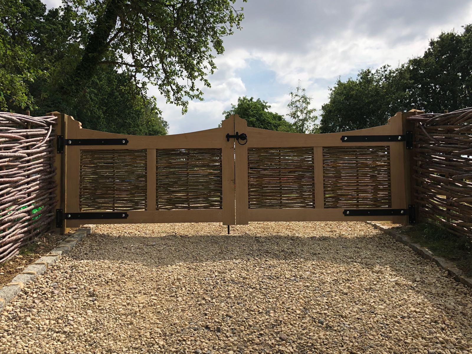 Bespoke woven gates by WonderWood