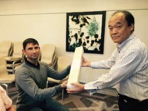 Receiving Jikiden Reiki teacher scroll