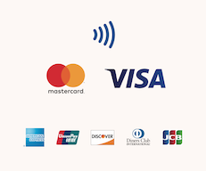 Credit card icons for Reiki treatments