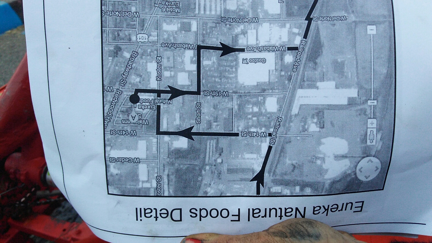 Map included in race packet, how to find lunch