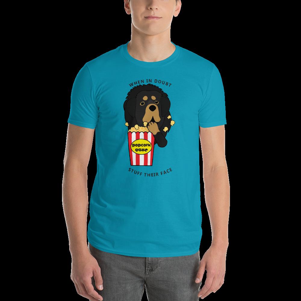 Tibetan-Mastiff-Popcorn-BT_Basenji-Popcorn_hashtagTSHBlack_printfile_back_mockup_Front_Mens_Caribbean-Blue.png