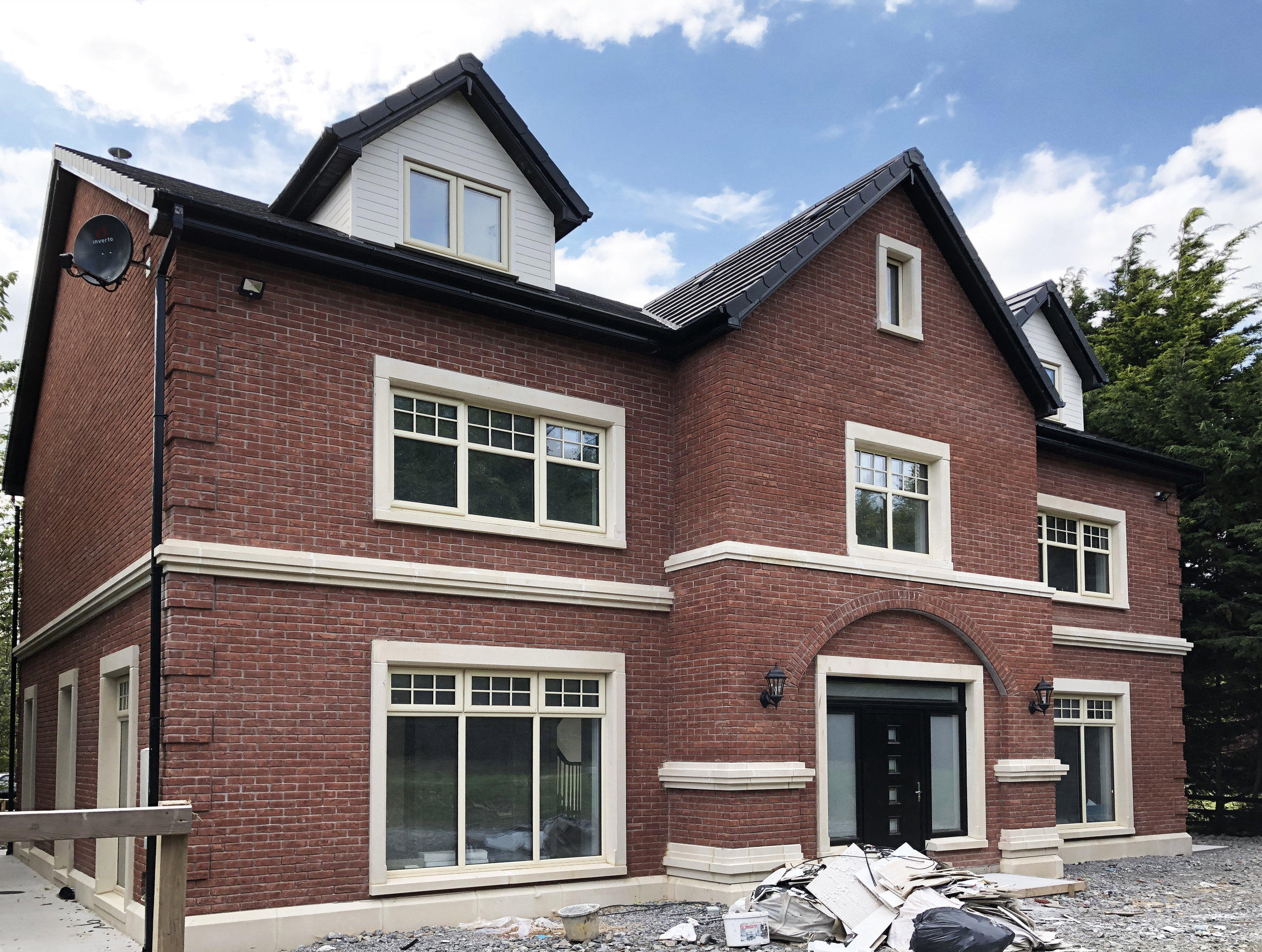 Work in progress- one of our recent housing projects.