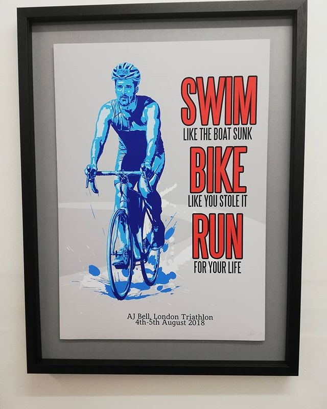 . Commissioned art print. . Never give up and go there and conquer your triathlon, whatever that might be! . . . . . . . . #triathlon #fitnessart #fitnessmotivation #fitnesscommunity #fitness #believeyoucan