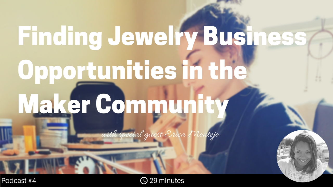 With experiences working as a bench jeweler, then working on a production floor, and now operating as an independent business owner, Erica shares a wealth of valuable information.  In this show, we discuss the importance of being confident in promoting your work, maneuvering the business aspects of selling jewelry (including how to manage prices for different markets), and the invaluable support and unexpected opportunities you can find among your local maker community.