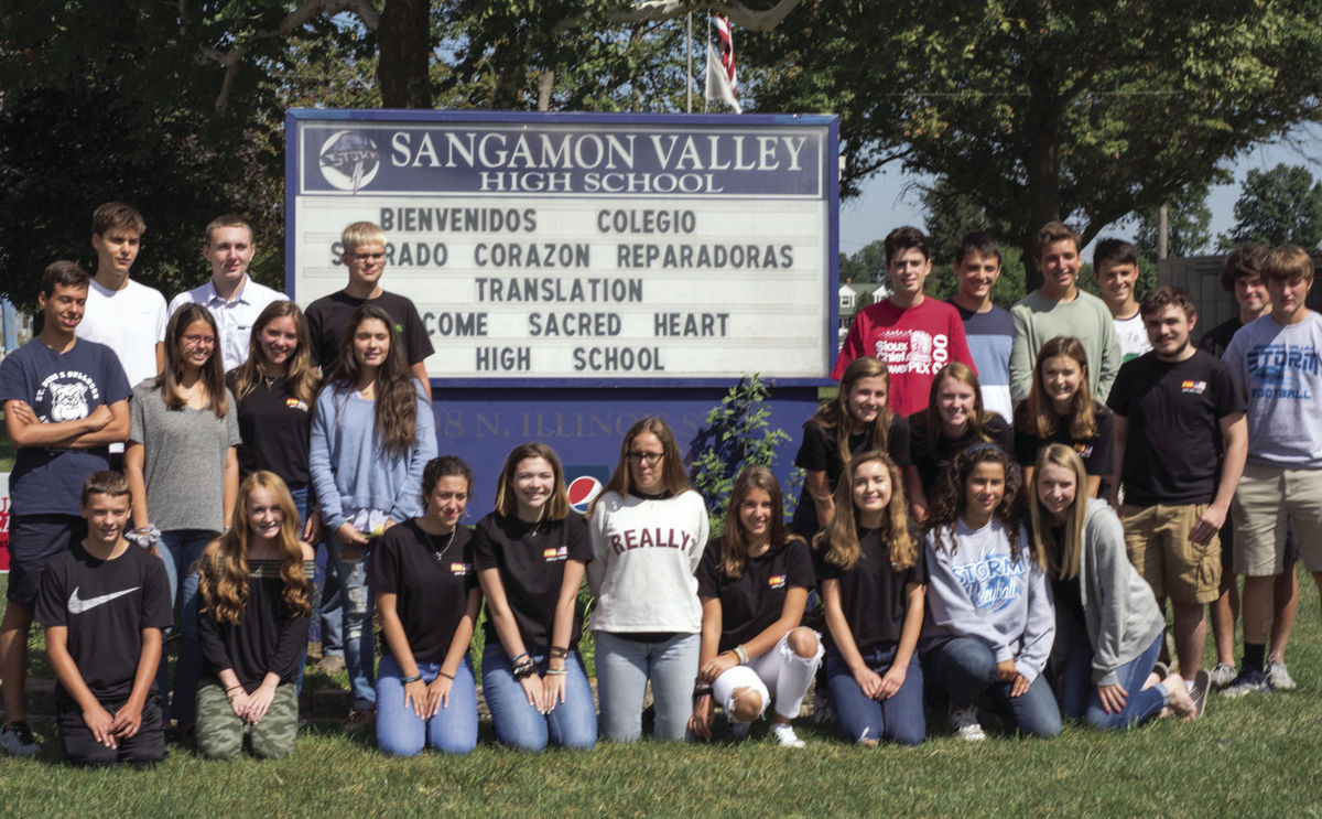 A group of 23 students from Spain were guests of Sangamon Valley High School as part of an exchange program organized by German and Spanish teacher Joe Scanavino.