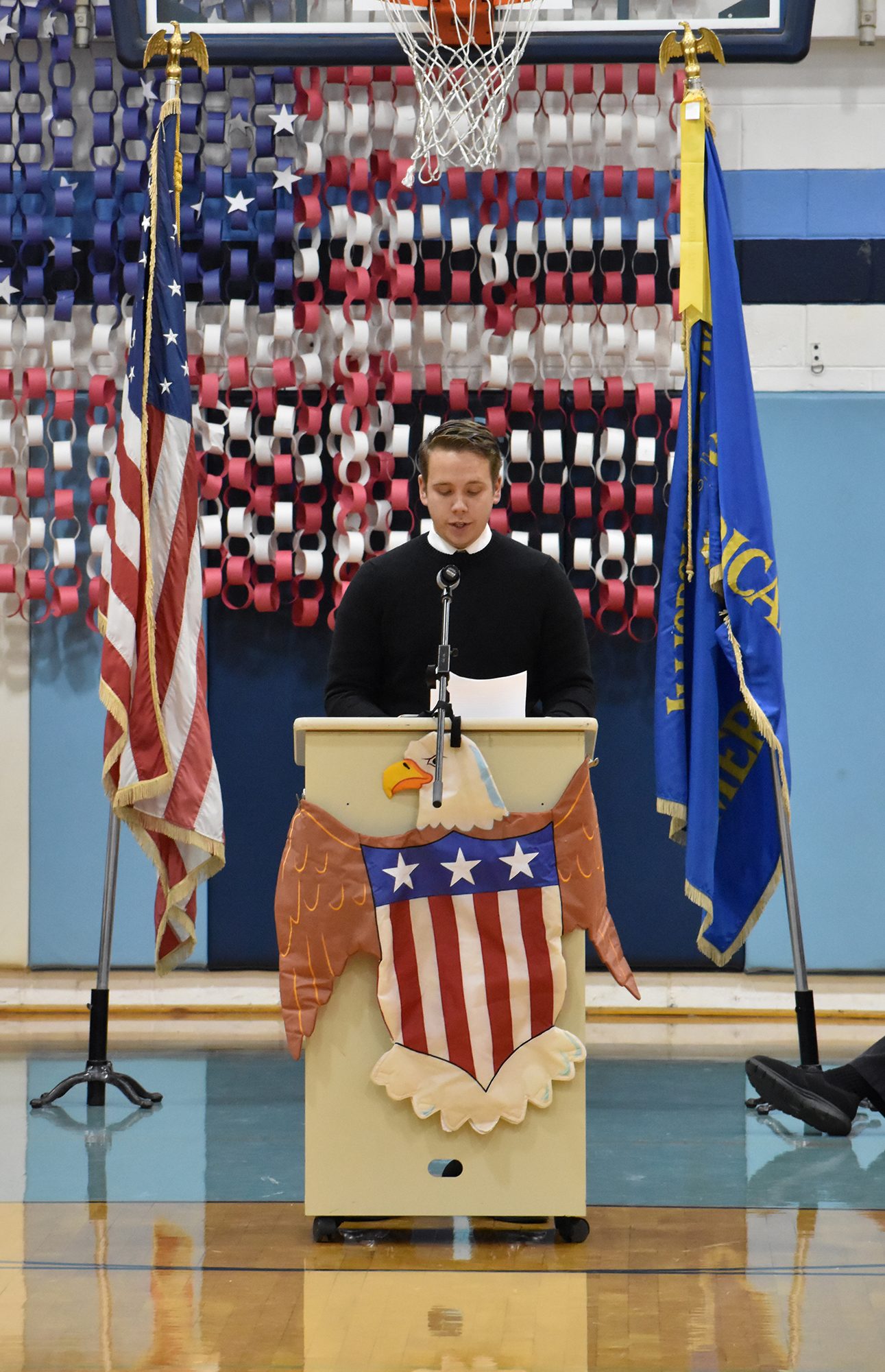 High School speaker Jon Shull talks about what being in the service means to him.