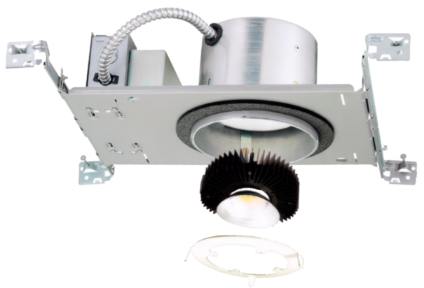 An extremely versatile high-powered monopoint LED retrofit for commercial recessed or can lighting: malls, airports, convention arenas, stage, auditorium, and much more. 20W - 90W units mount to 0.80 aluminum adapter plates that have been custom cut to fit your fixture. Reflectors are available in Wide (W), Medium (M),Narrow (N), and Very Narrow (VN), for low to high heights. Every CSP comes standard with proprietary, industry-leading 22kA, 44kV surge suppression.