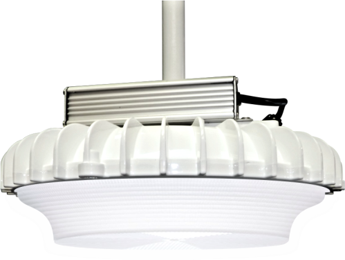 Designed and manufactured of powder-coated, die-cast aluminum, the new GRG luminaire is compact, lightweight (only 7lbs. assembled) and delivers up to 109 lm/W.  GRG is designed specifically for superior performance in parking garages. The GRG's highly-efficient integrated heat sink, along with an exterior mounted driver, ensures exceptional thermal management for decades of service.  The GRG comes standard with proprietary 44kA/22kV surge suppression.