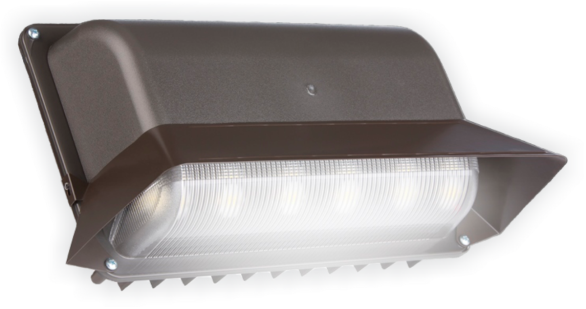 Designed to provide superior performance for decades in harsh outdoor conditions, the WMA features: a powder coated, die-cast aluminum IP66 rated housing; integrated J-box with top and rear knockouts and mounting options; integrated heat sink; and a glare reducing aesthetic lens providing the look of conventional lighting. For increased efficiency and longevity, proprietary, industry-leading 44kV surge suppression as well as the DBE-124 Photocontrol is standard on every WMA.