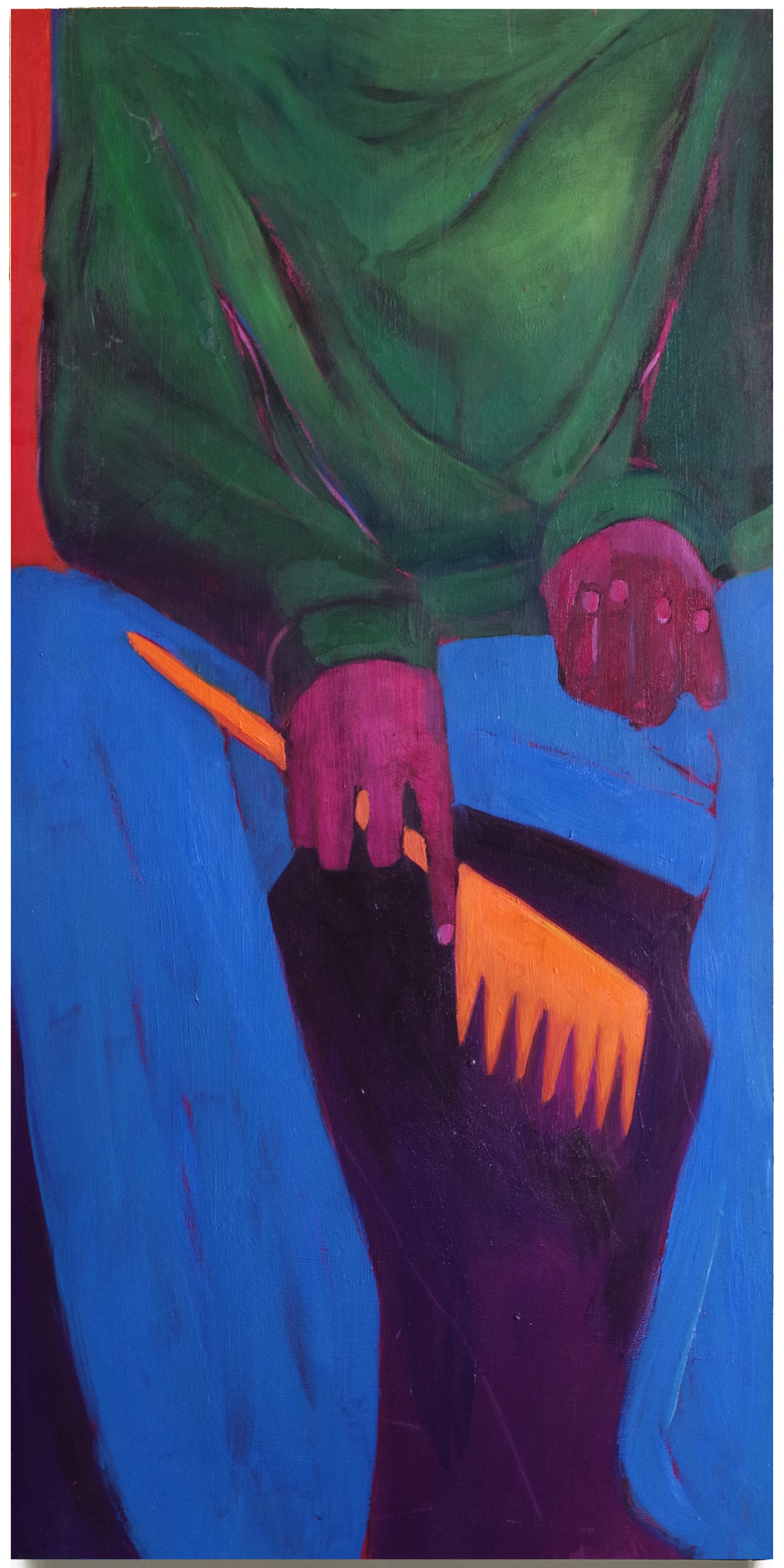 """Contractions . Oil on Wooden Panel .  24"""" x 48"""" . 2015"""