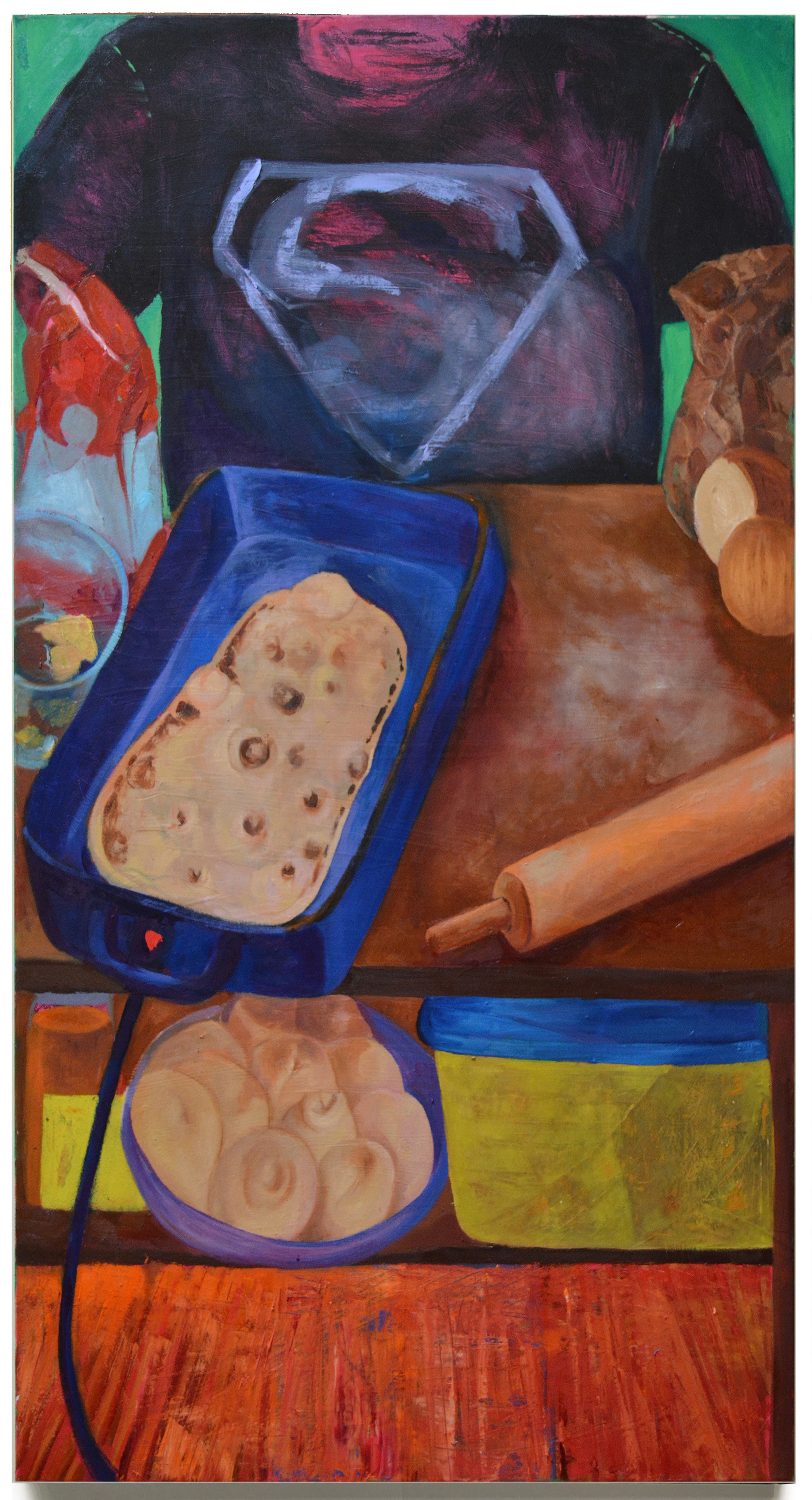 "Papa Chunks . Oil on Canvas . 48"" x 72"" . 2015"