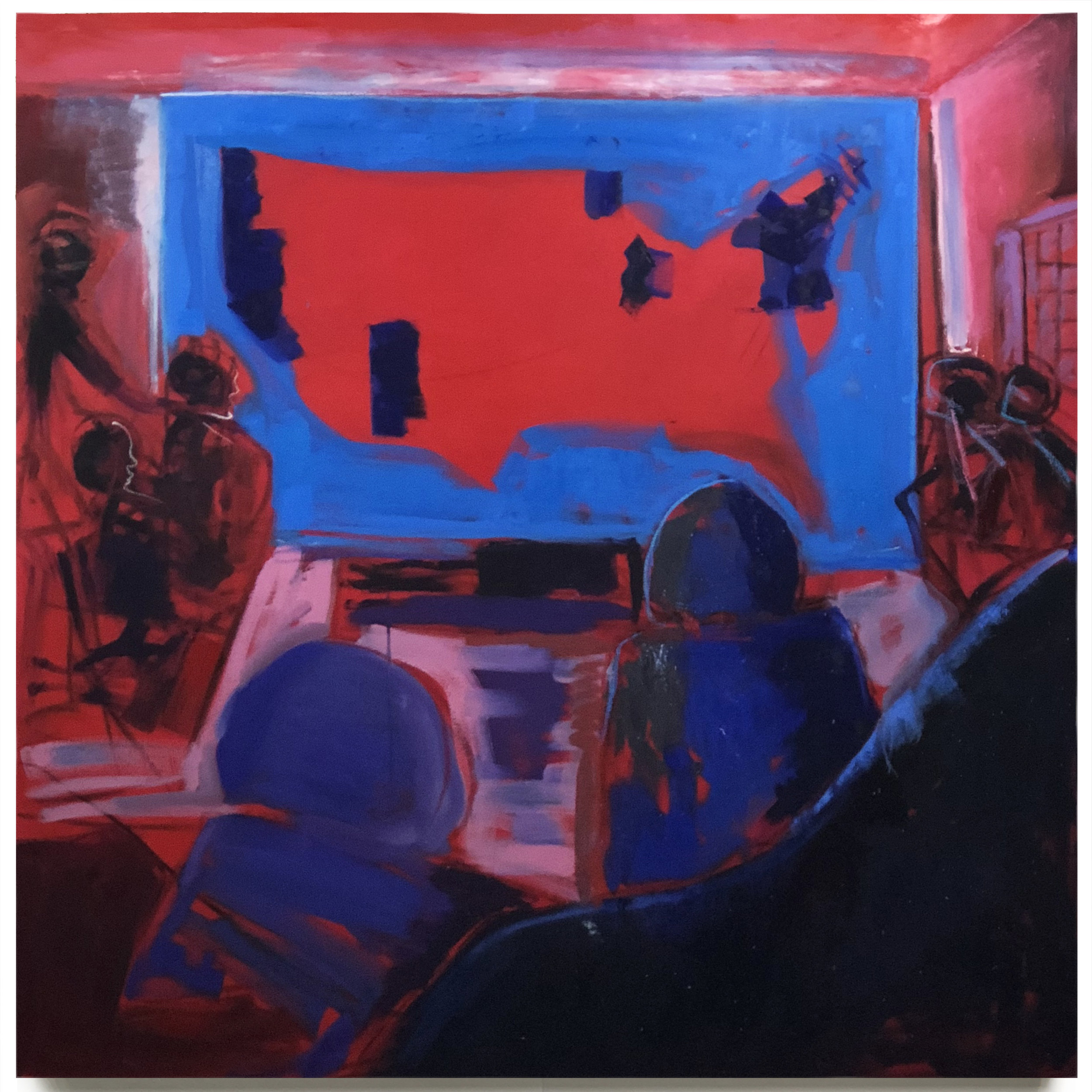 "Red: 2016 . Oil On Canvas. 60"" x 60"". 2018"