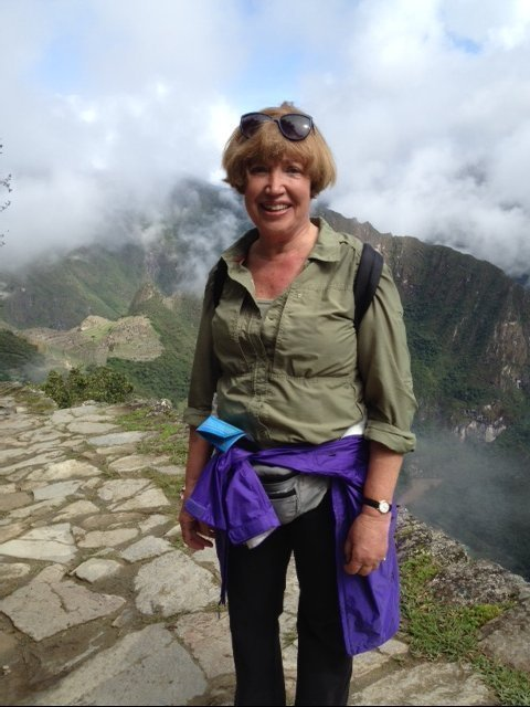 At the top of Machu Picchu in 2015