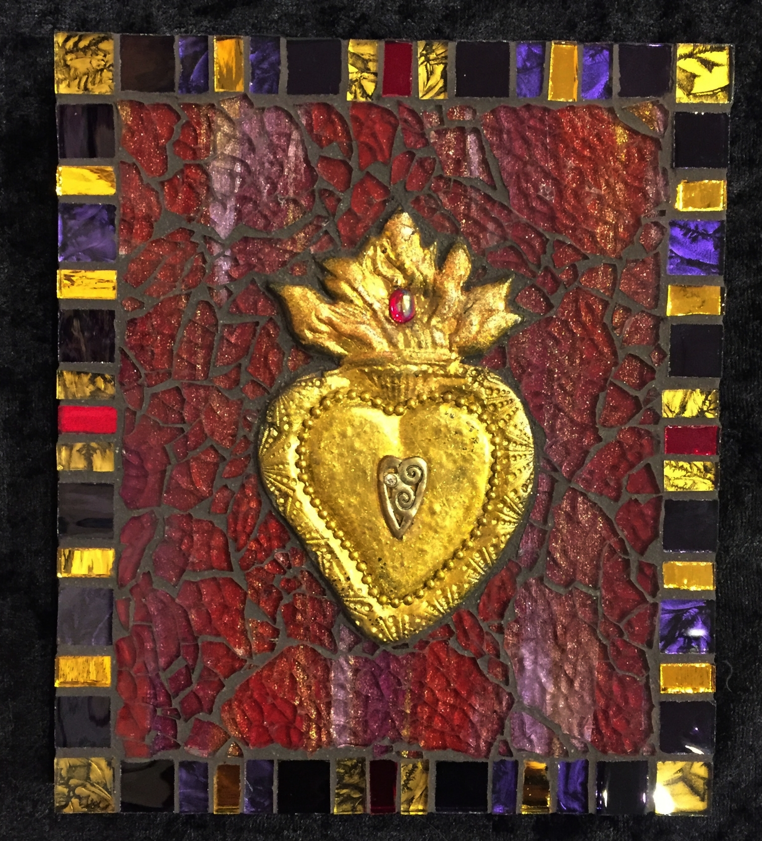 "Sacred Heart 7"" x 6"""